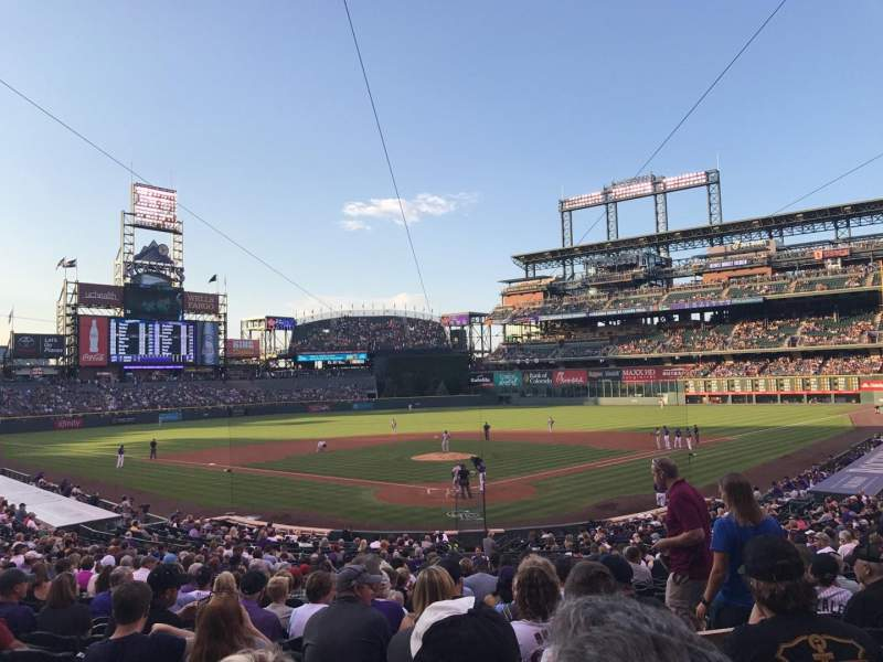 Seating view for Coors Field Section 131 Row 30 Seat 3