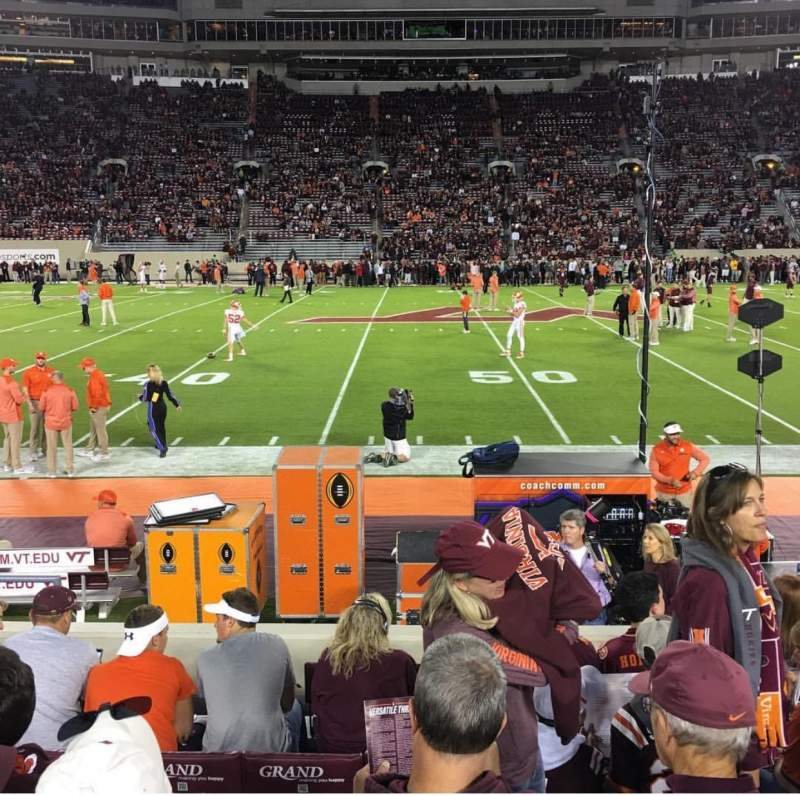 Lane Stadium, section: 11, row: H, seat: 12