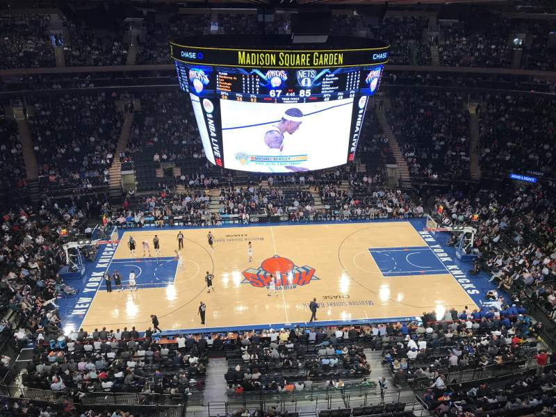 Madison Square Garden Abschnitt 313 Reihe 1 Heimat Von New York