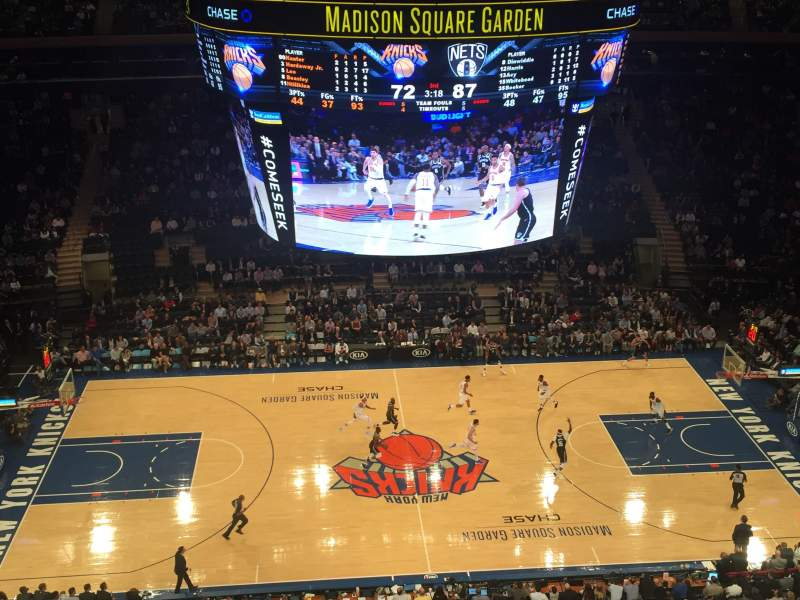 Madison Square Garden, section: 313, row: 1, seat: 5