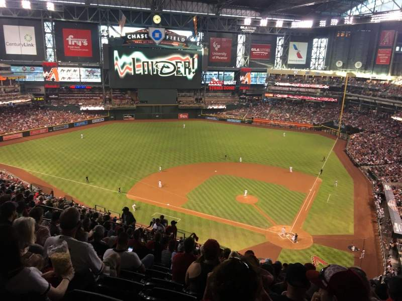 Seating view for Chase Field Section 319 Row 23 Seat 11