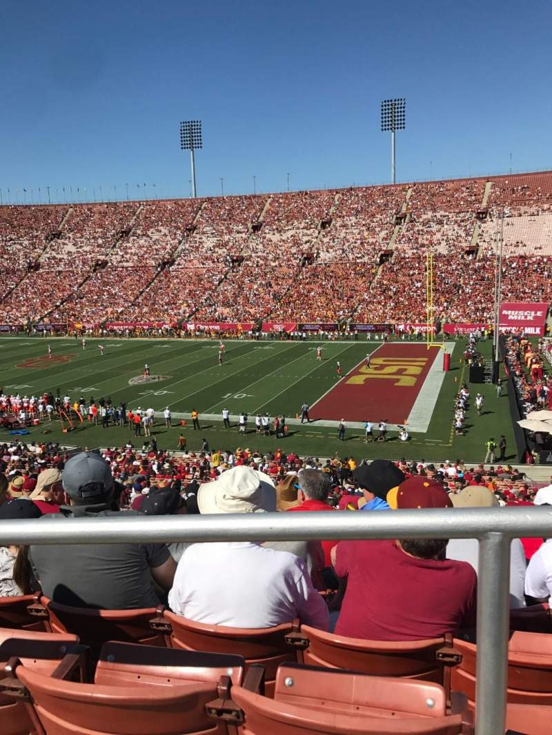Seating view for Los Angeles Memorial Coliseum Section 203B Row 1 Seat 12
