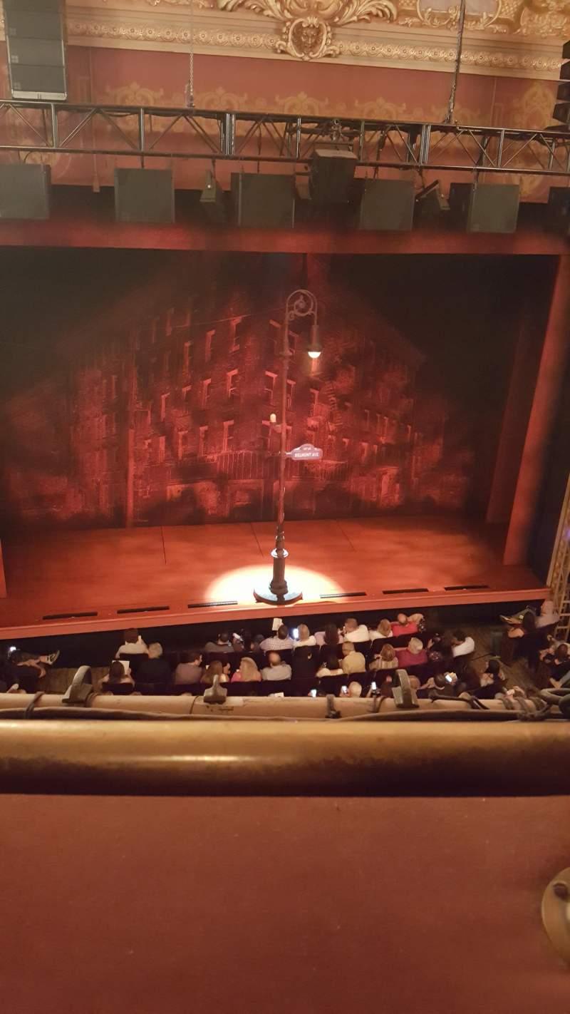Longacre Theatre, section: Balcony, row: A, seat: 113