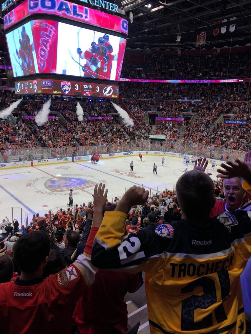 BB&T Center, section: 103, row: 24, seat: 13