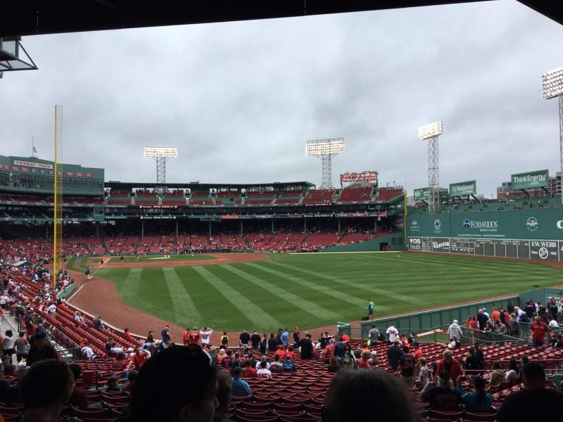 Seating view for Fenway Park Section Grandstand 3 Row 5 Seat 17