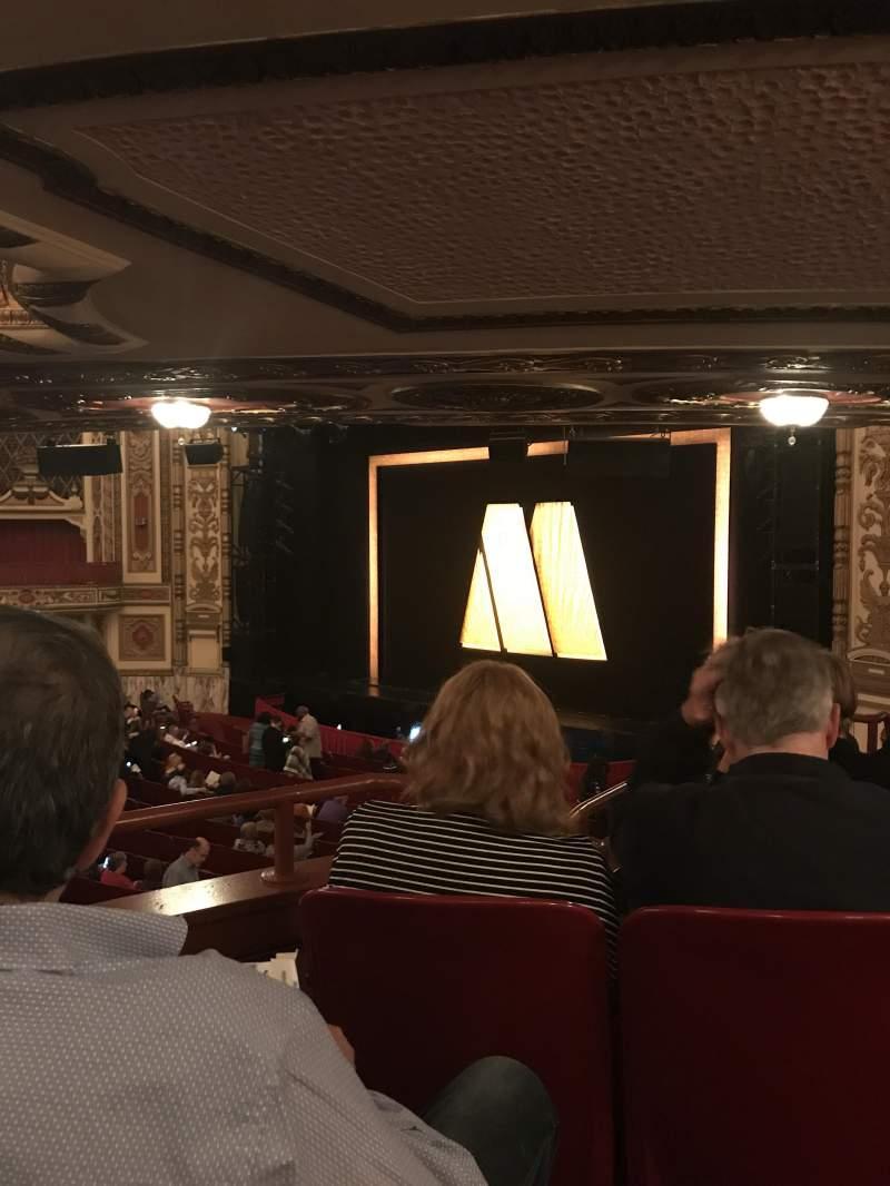 Cadillac Palace Theater, section: Dress Circle FR, row: Kk, seat: 8