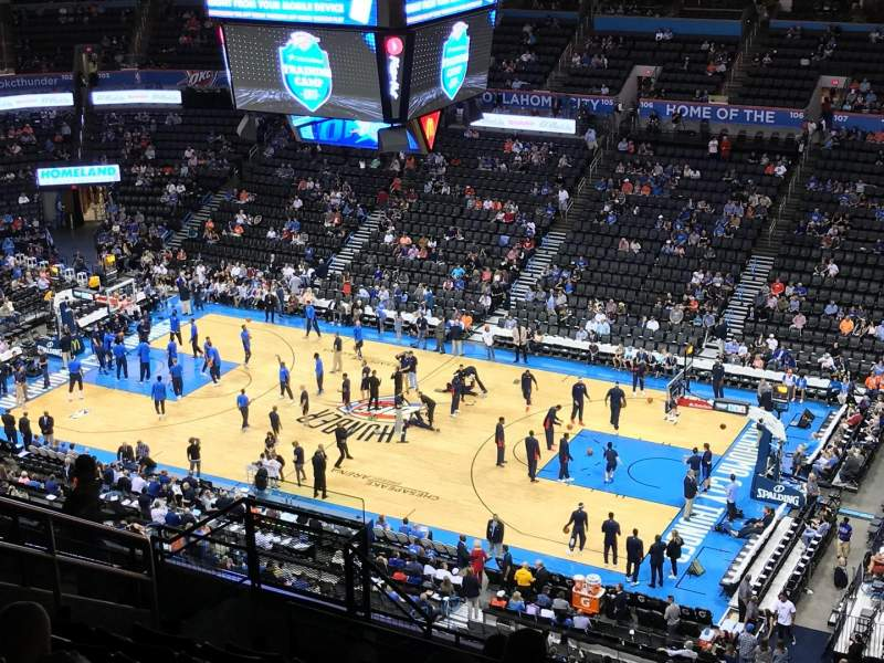 Seating view for Chesapeake Energy Arena Section 321 Row M Seat 13