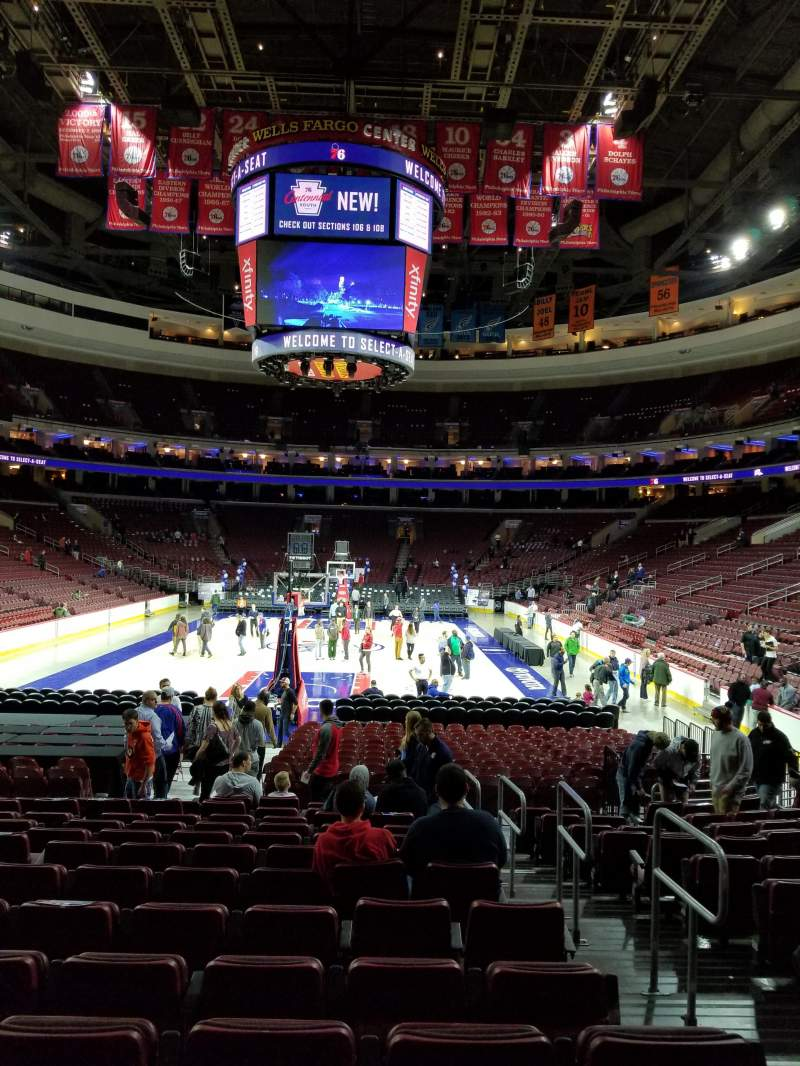 Seating view for Wells Fargo Center Section 119 Row 13 Seat 14-16