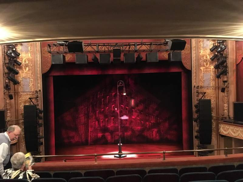 Longacre Theatre, section: Mezzanine, row: F, seat: 108