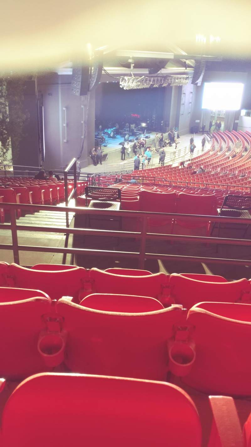 The Greek Theatre, section: North Terrace L, row: P, seat: 56