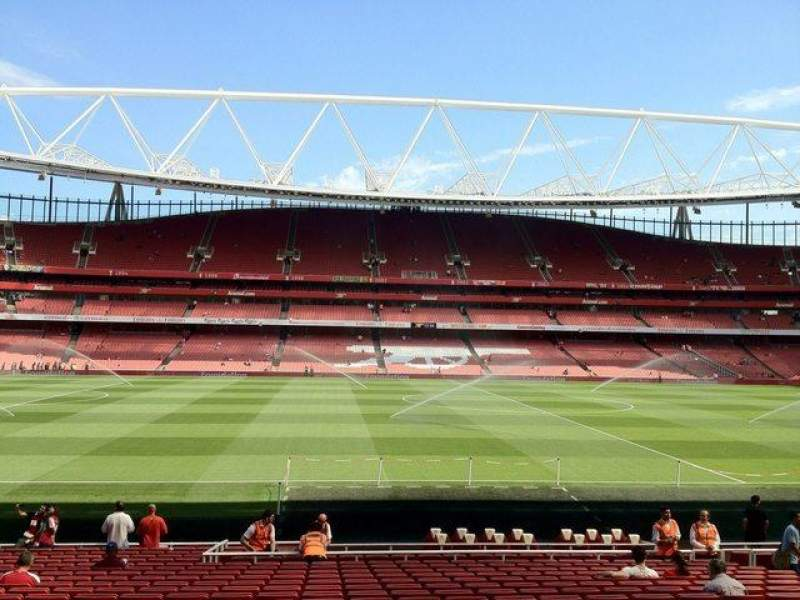 Seating view for Emirates Stadium Section 1 Row 22 Seat 25