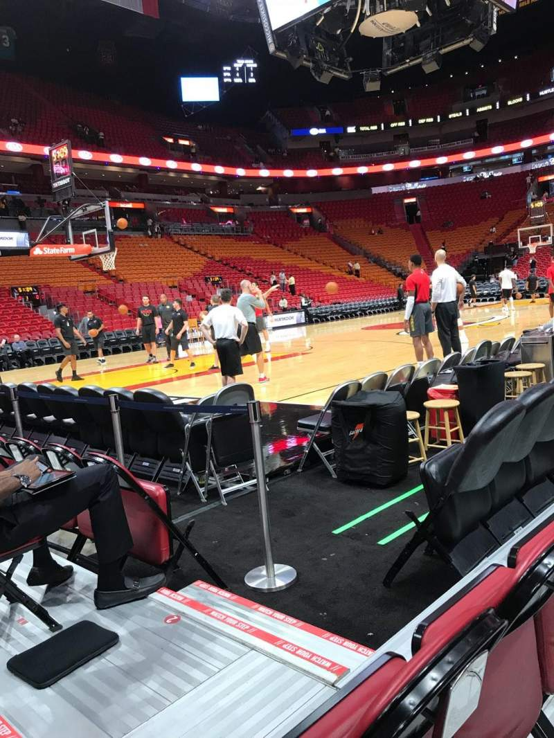 American Airlines Arena, section: 108, row: 2, seat: 20