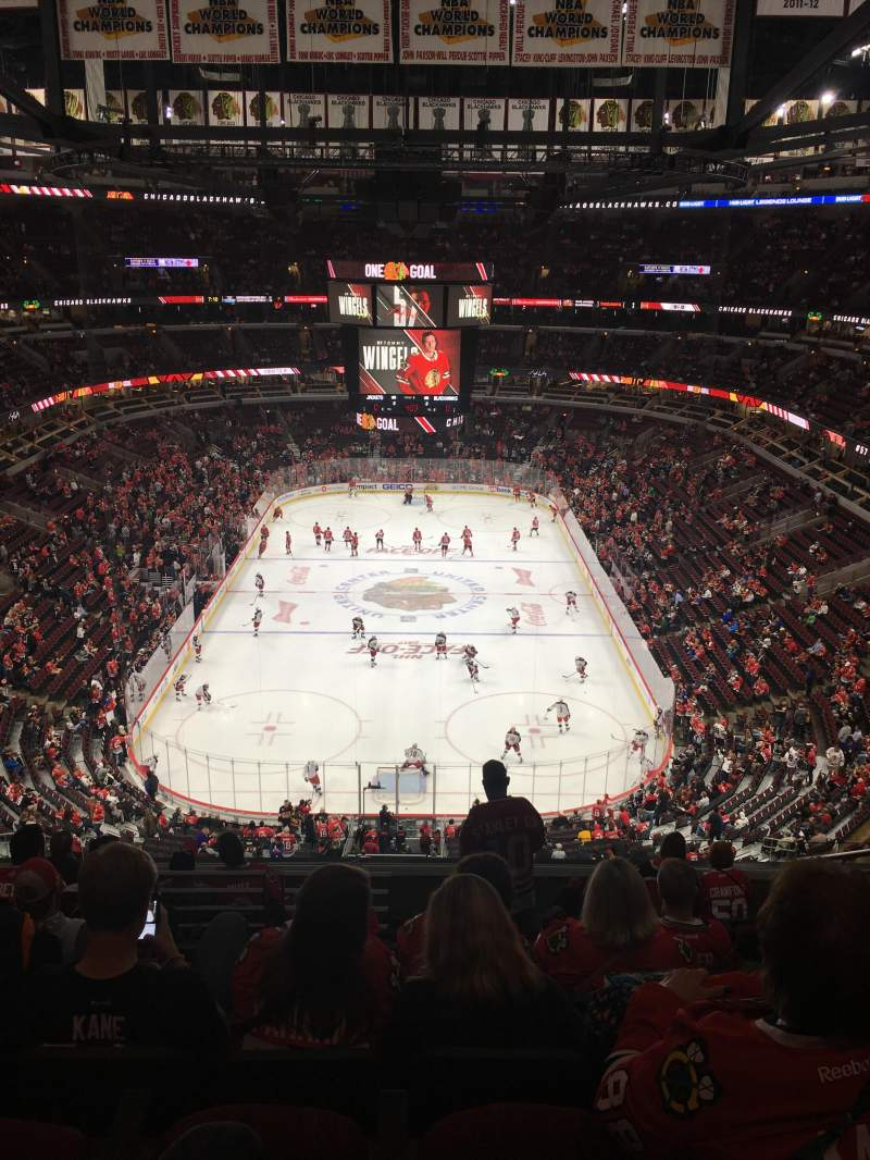 Seating view for United Center Section 326 Row 10 Seat 6