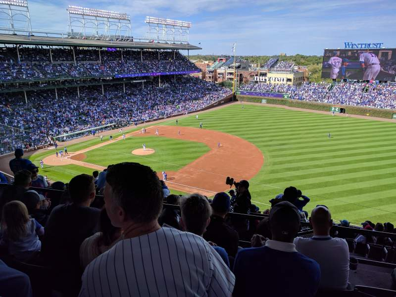 Seating view for Wrigley Field Section 427R Row 4 Seat 14