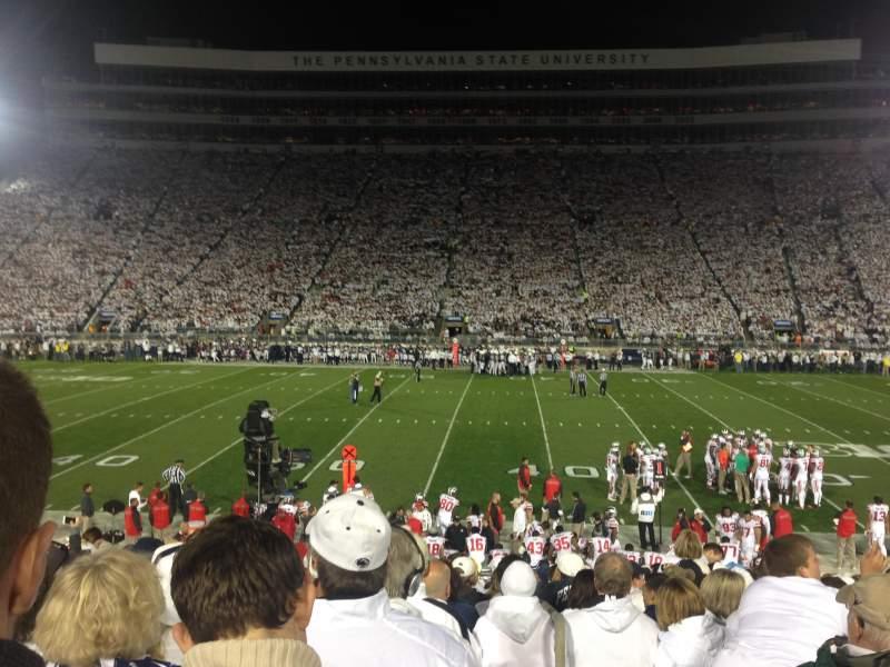 Beaver Stadium, section: WE, row: 8, seat: 29