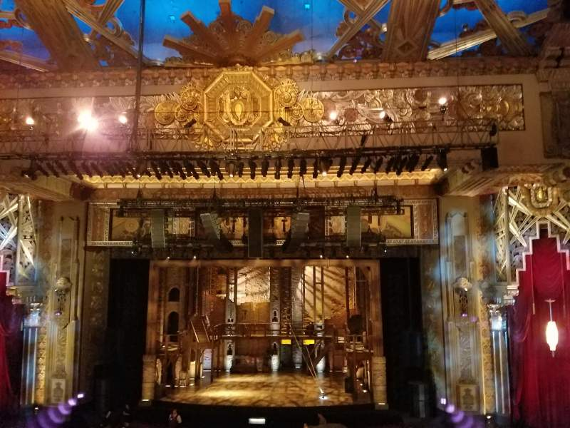 Seating view for Hollywood Pantages Theatre Section Mezzanine C Row E Seat 101