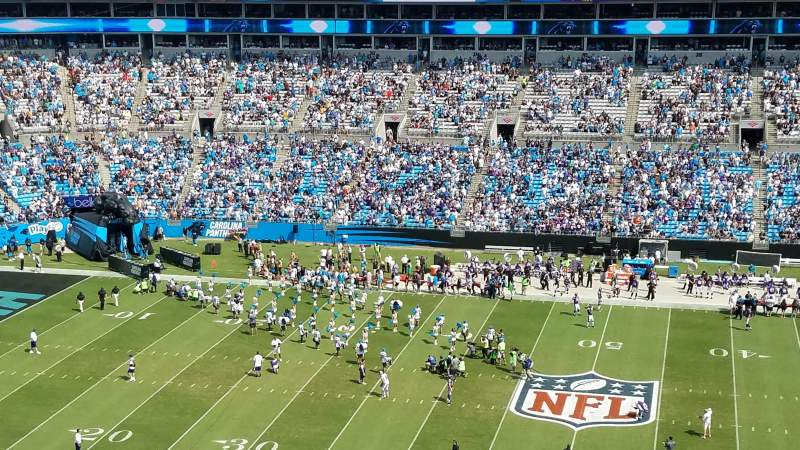 Seating view for Bank of America Stadium Section 541 Row 6 Seat 17