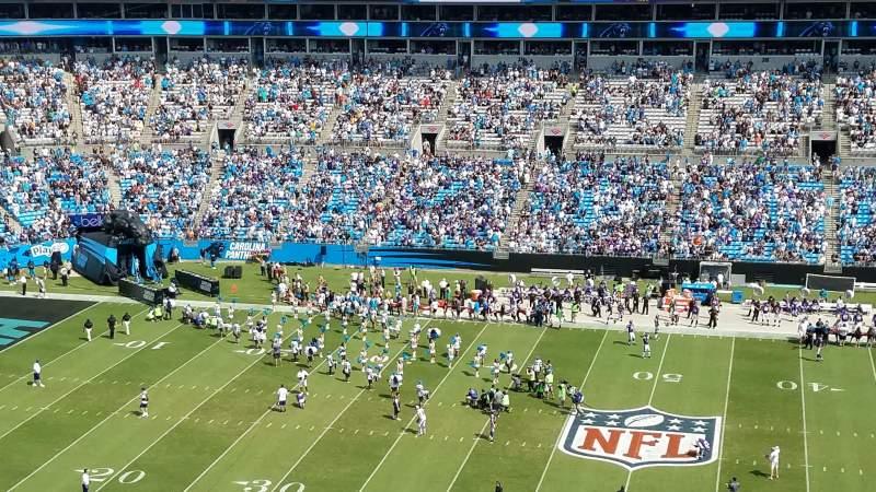 Bank of America Stadium, section: 541, row: 6, seat: 17