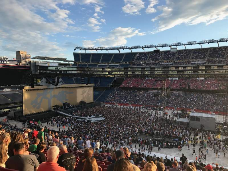 Seating view for Gillette Stadium Section CL7 Row 22 Seat 5