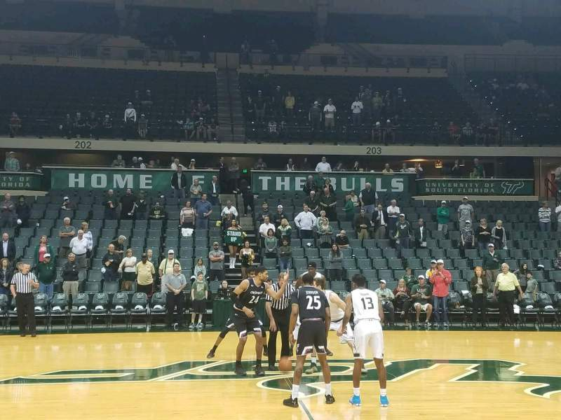 Seating view for USF Sun Dome Section 114 Row C Seat 1