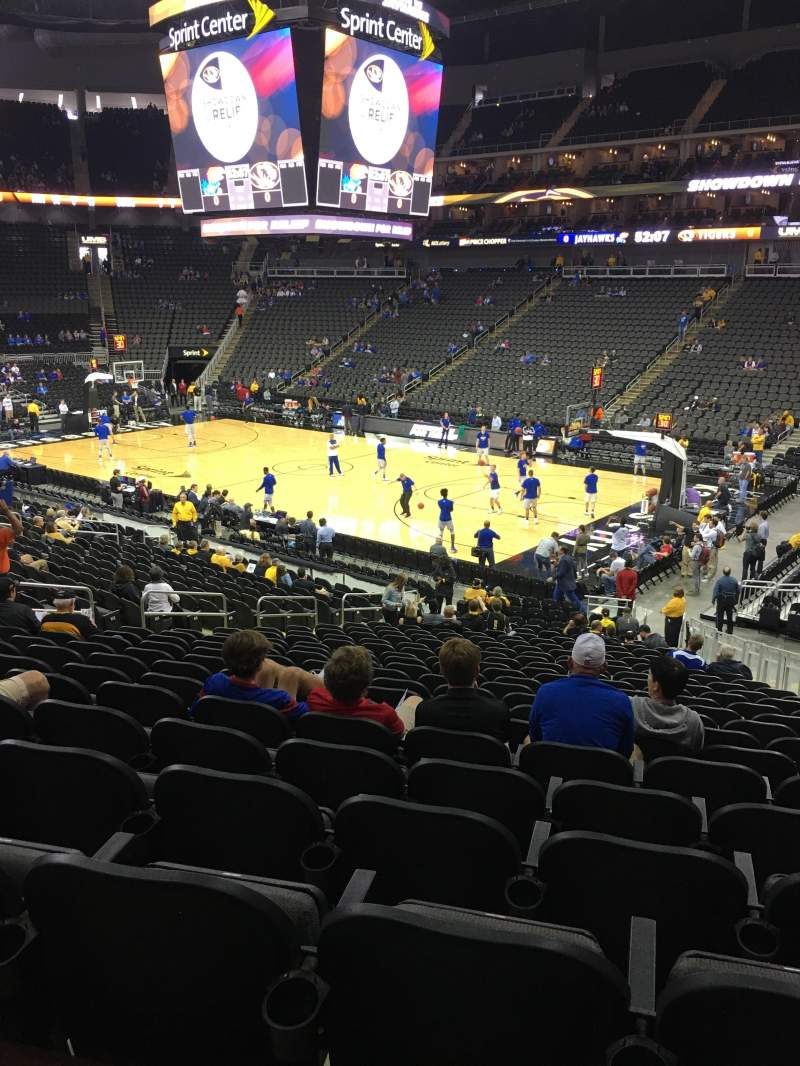 Sprint Center, section: 115, row: 23, seat: 8