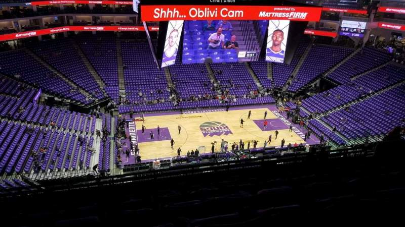 Seating view for Golden 1 Center Section 206 Row L Seat 15