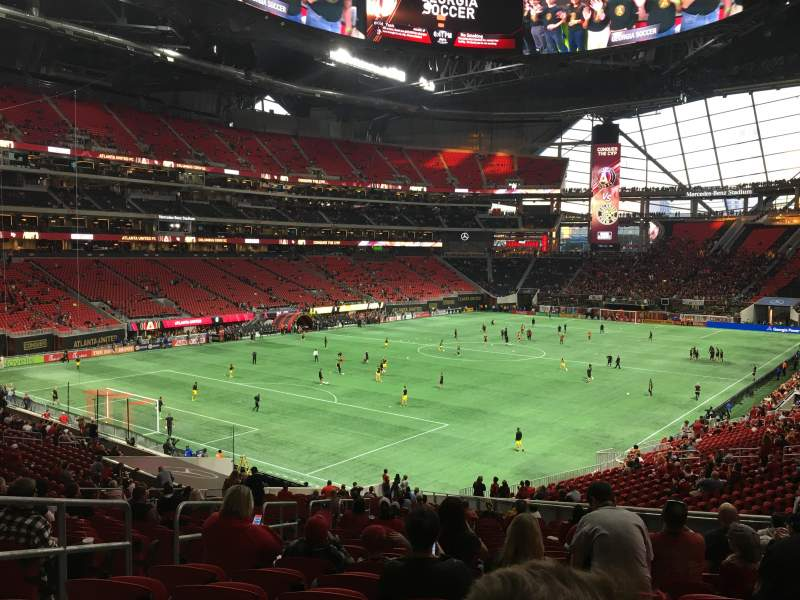 Seating view for Mercedes-Benz Stadium Section 116 Row 40 Seat 22