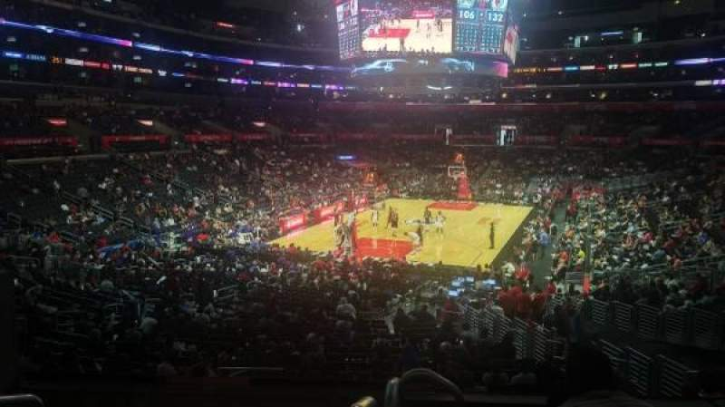 Seating view for Staples Center Section 215 Row 6 Seat 3