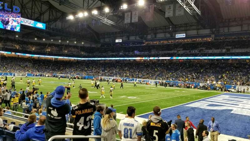 Seating view for Ford Field Section 111 Row 6 Seat 4