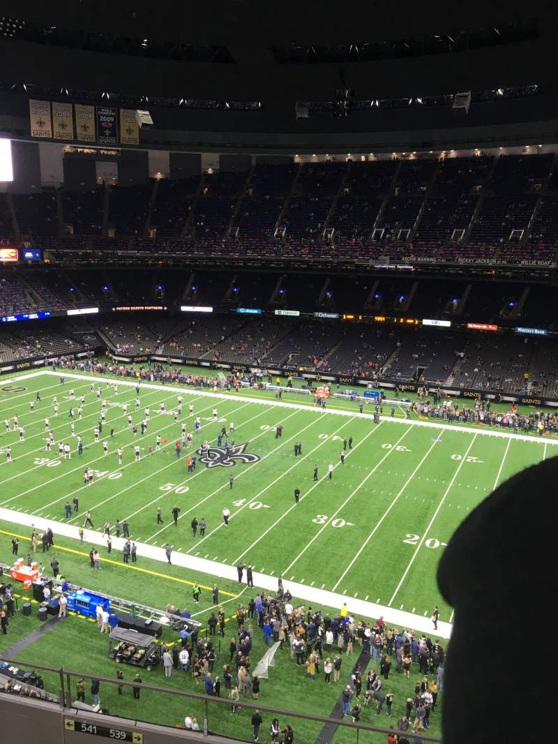 Seating view for Mercedes-Benz Superdome Section 636 Row 13 Seat 22