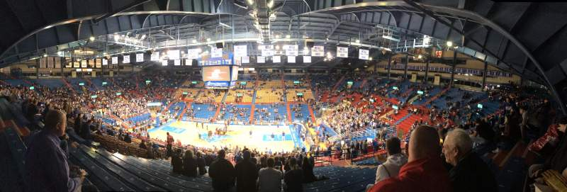 Seating view for Allen Fieldhouse Section 16 Row 26 Seat 8