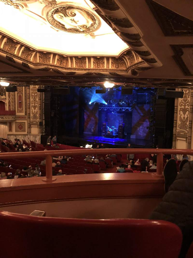 Seating view for Cadillac Palace Theater Section Dress Circle FR Row MM Seat 10