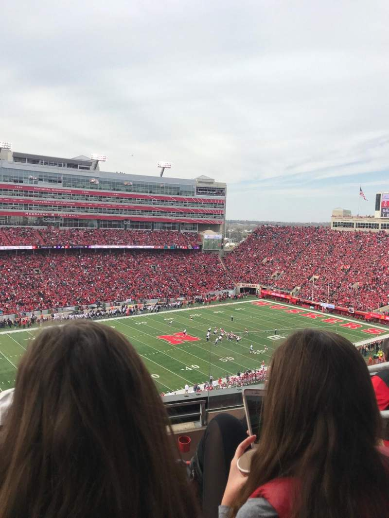 Memorial Stadium (Lincoln), section: 412, row: 4, seat: 3