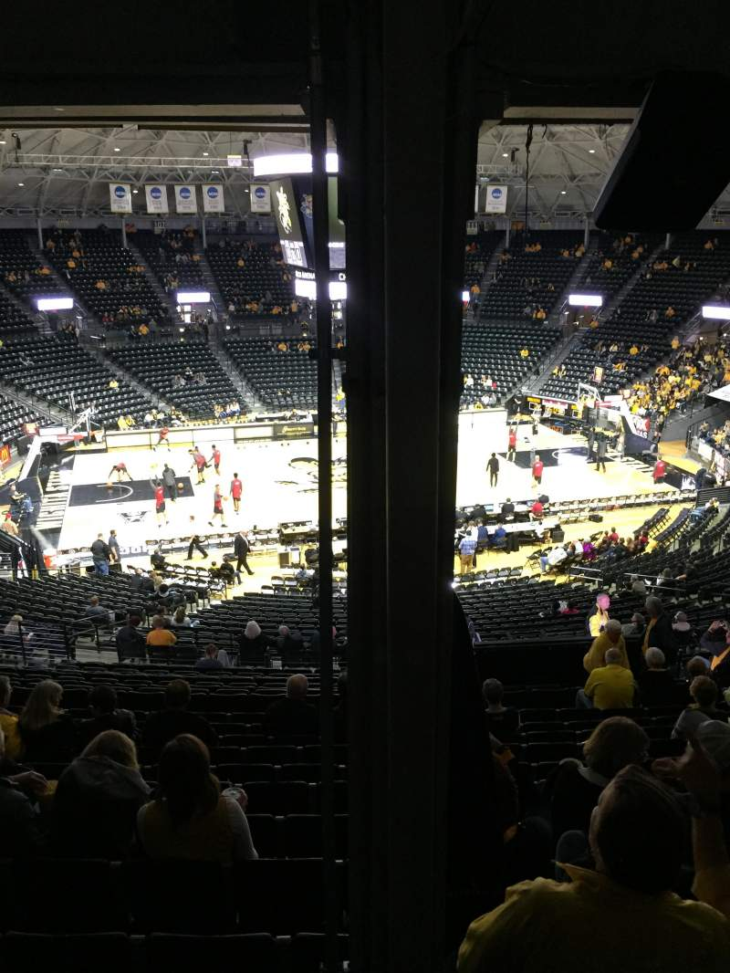 Seating view for Charles Koch Arena Section 122 Row 34 Seat 15