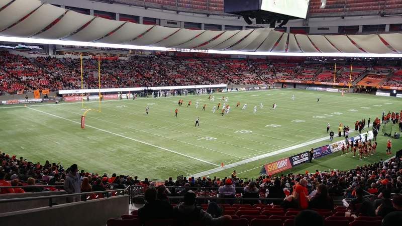 BC Place, section: 249, row: OO, seat: 8