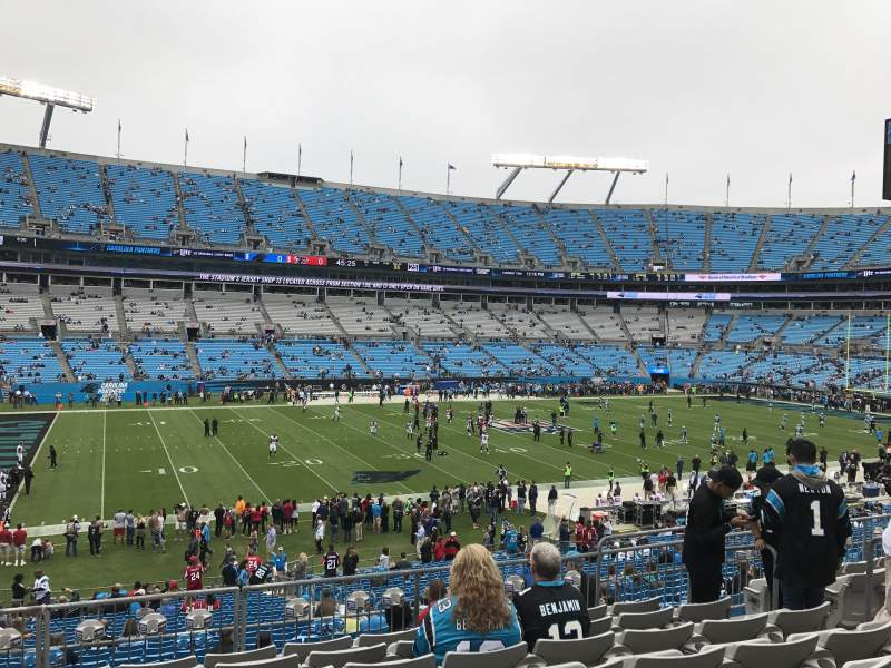 Bank of America Stadium, section: 319, row: 8, seat: 8