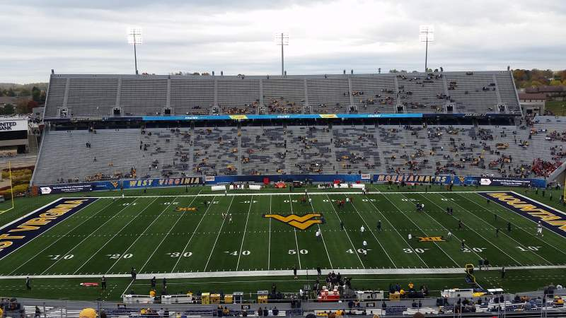Mountaineer Field, section: 217, row: 19, seat: 110