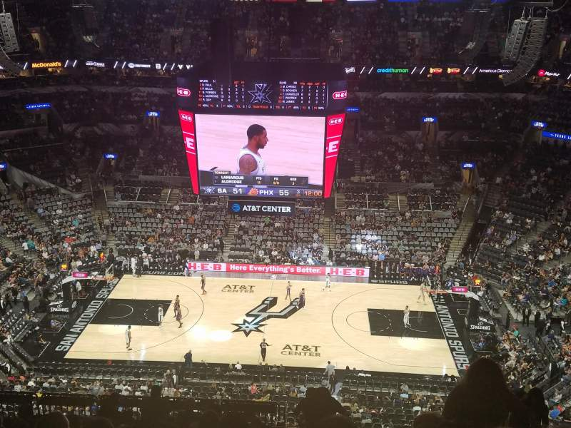 AT&T Center, section: 224, row: 15, seat: 2