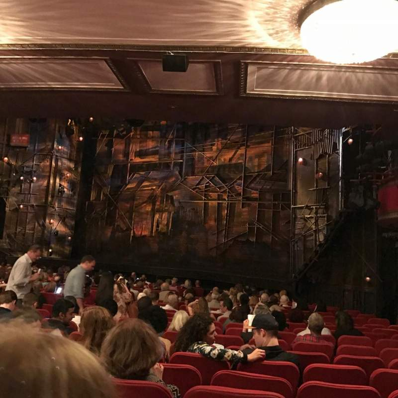 Seating view for Broadway Theatre - 53rd Street Section Orchestra R Row T Seat 23