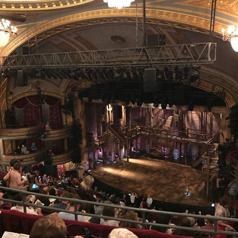 Seating view for Richard Rodgers Theatre Section Rear Mezzanine R Row J Seat 28