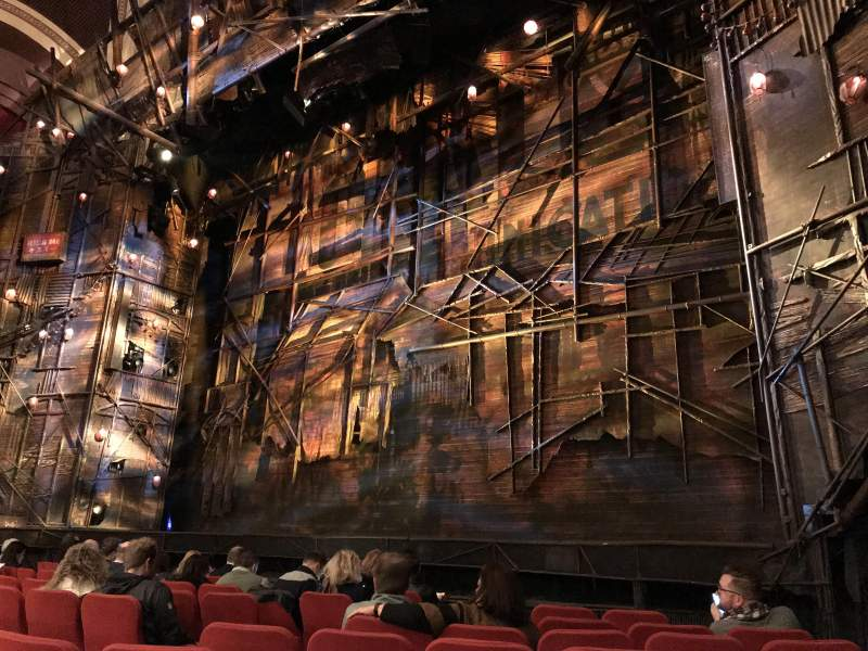 Seating view for Broadway Theatre - 53rd Street Section Orchestra Row I Seat 13