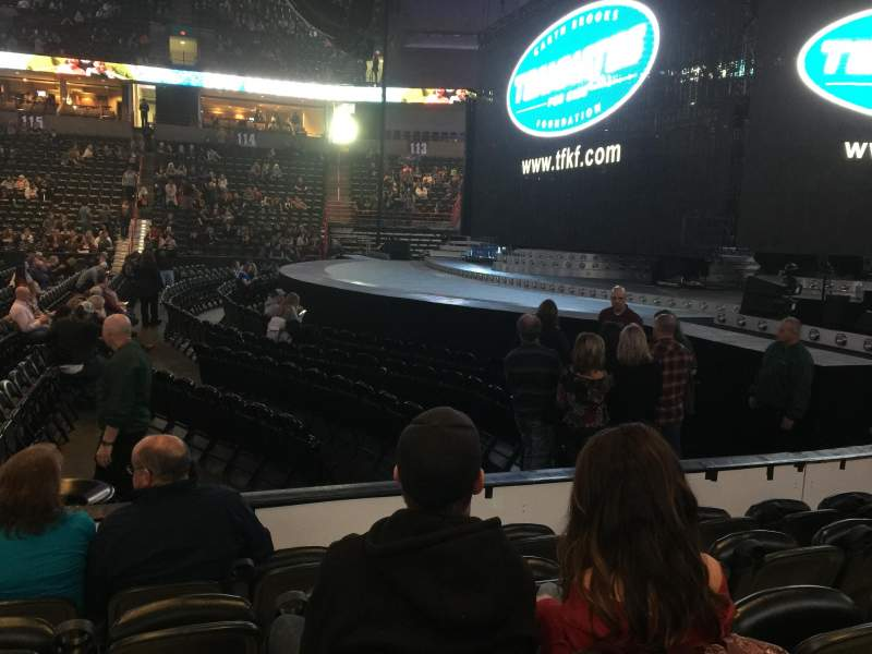 Seating view for Spokane Arena Section 106 Row E Seat 13