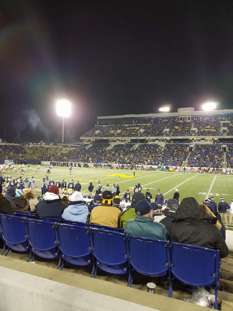Seating view for Navy-Marine Corps Memorial Stadium Section 3 Row 3 Seat 12