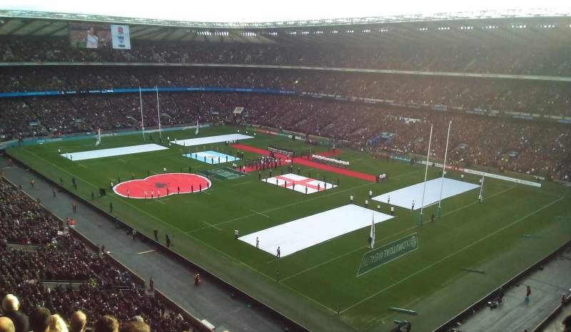 Seating view for Twickenham Stadium Section EAST UPPER Row H Seat 44