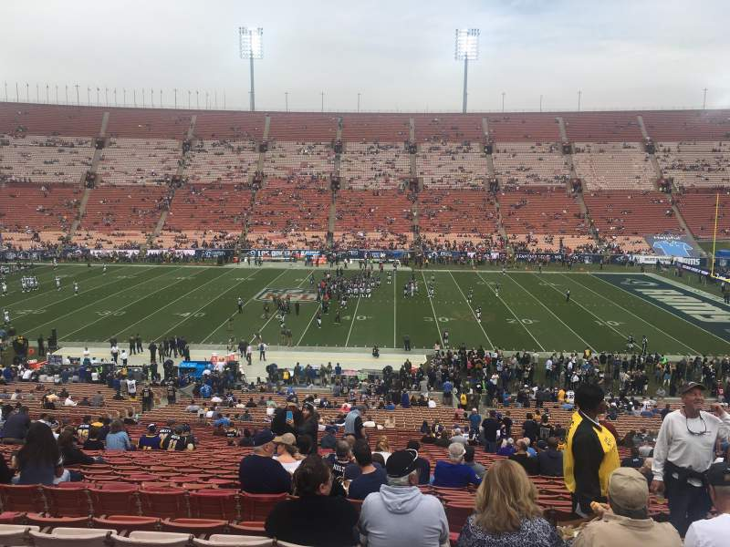Seating view for Los Angeles Memorial Coliseum Section 6L Row 50 Seat 6
