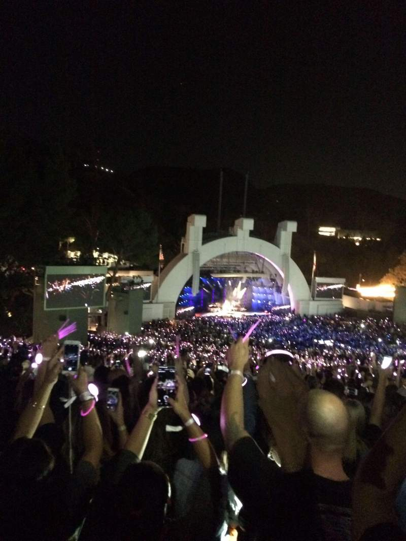 Seating view for Hollywood Bowl Section P2 Row 20 Seat 118