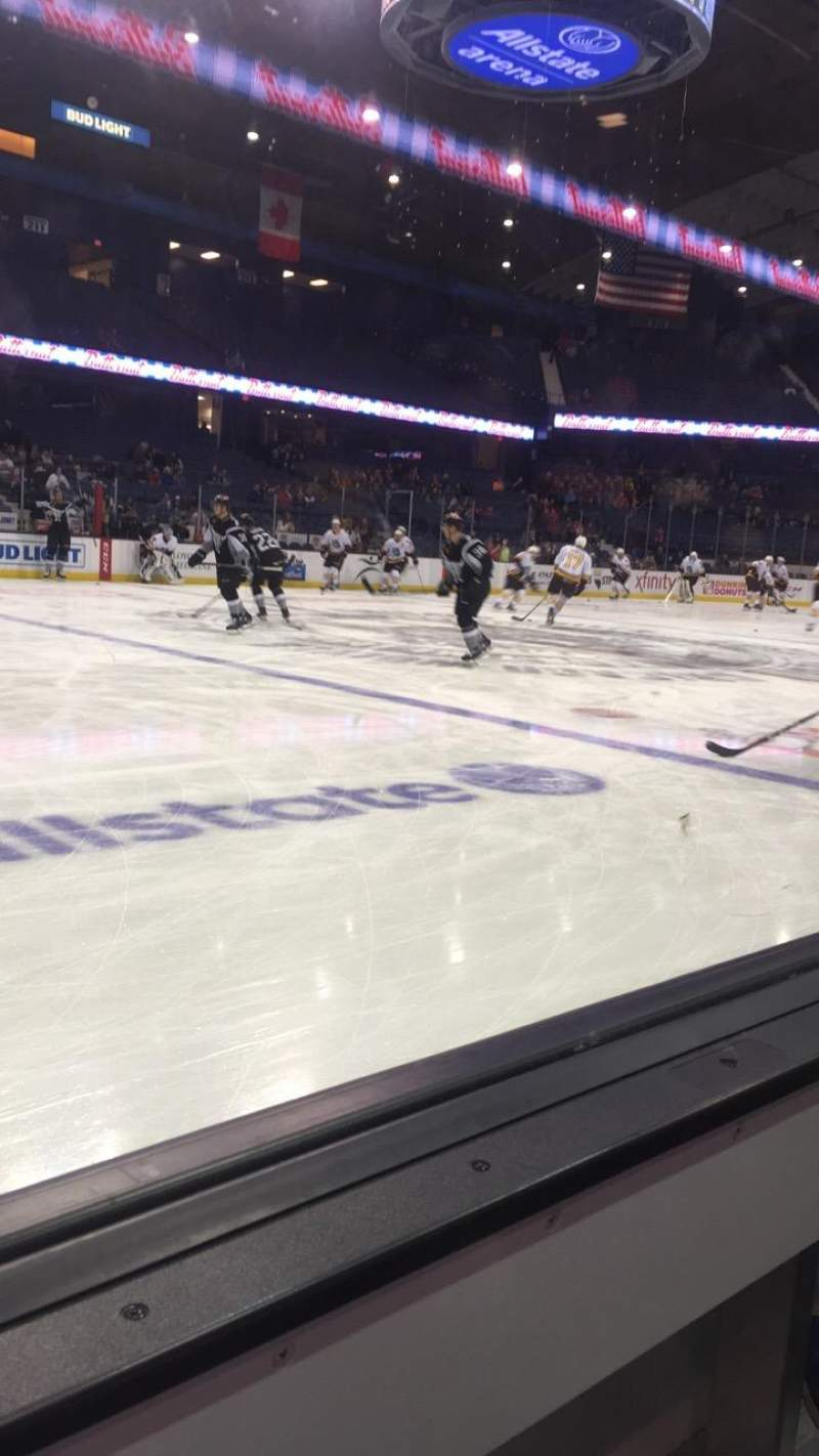 Seating view for Allstate Arena Section 103 Row AA Seat 30