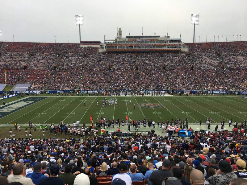 Seating view for Los Angeles Memorial Coliseum Section 222B Row 3 Seat 8