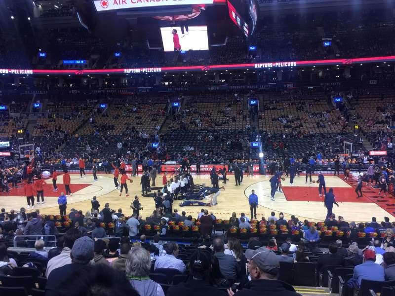 Seating view for Scotiabank Arena Section 108 Row 17 Seat 1