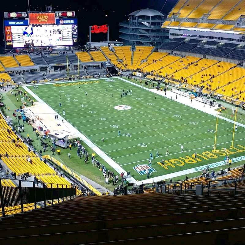 Seating view for Heinz Field Section 518 Row FF Seat 10